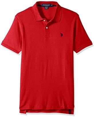 U.S. Polo Assn. Men's Slim Fit Solid Short Sleeve Interlock Shirt