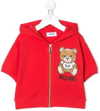 Moschino Kids logo bear print sweatshirt