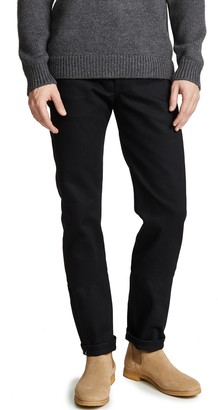 Naked & Famous Denim Weird Guy - Solid Black Selvedge Jeans