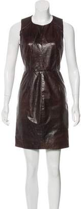 J. Mendel Leather Mini Dress