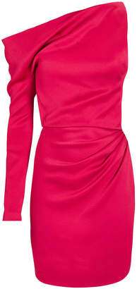 Cushnie Satin One-Sleeve Mini Dress