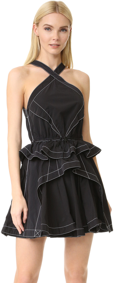 Alexander WangAlexander Wang Full Skirt Dress with Cord Waist