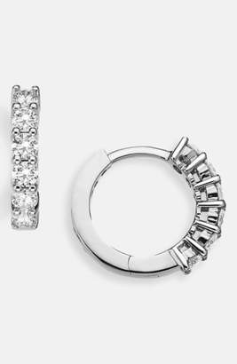 Roberto Coin Diamond Huggie Hoop Earrings