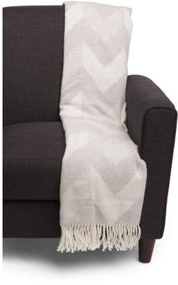 Made In Italy Chevron Pattern Throw