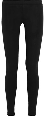James Perse - Stretch-pima Cotton Jersey Leggings - Black $75 thestylecure.com