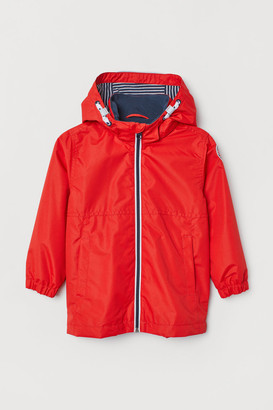 H&M Outdoor Jacket with Hood - Red
