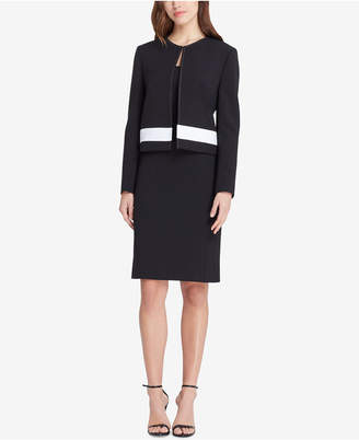 Tahari ASL Colorblocked Dress Suit