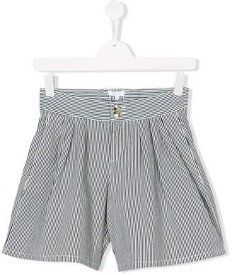 Chloé Kids TEEN striped pleated shorts