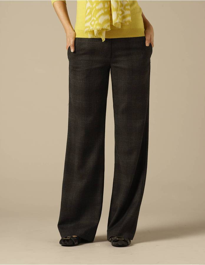 Wideleg Wool Trousers