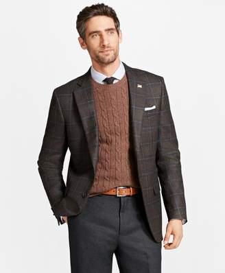 Brooks Brothers Madison Fit Saxxon Wool Plaid Sport Coat