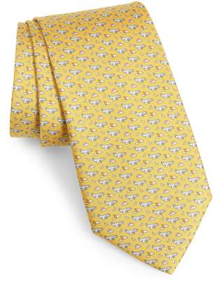 Salvatore Ferragamo Airplane Silk Tie