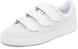 PUMA Basket Strap Sneakers $90 thestylecure.com
