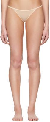 Calvin Klein Underwear Beige Mesh String Thong $20 thestylecure.com