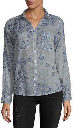 Raga Women's Secret Cotton Button-Down Shirt