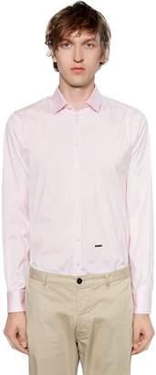 DSQUARED2 Stretch Cotton Poplin Shirt
