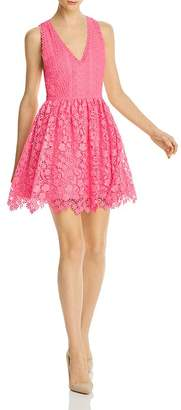Alice + Olivia Iris Lace Fit-and-Flare Dress