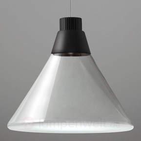 LED-Glashängeleuchte Polair mit warmweißen LEDs