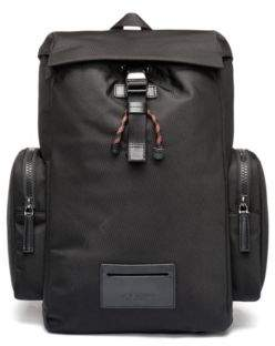 HUGO Boss Backpack in nylon leather trims & reverse logo One Size Black