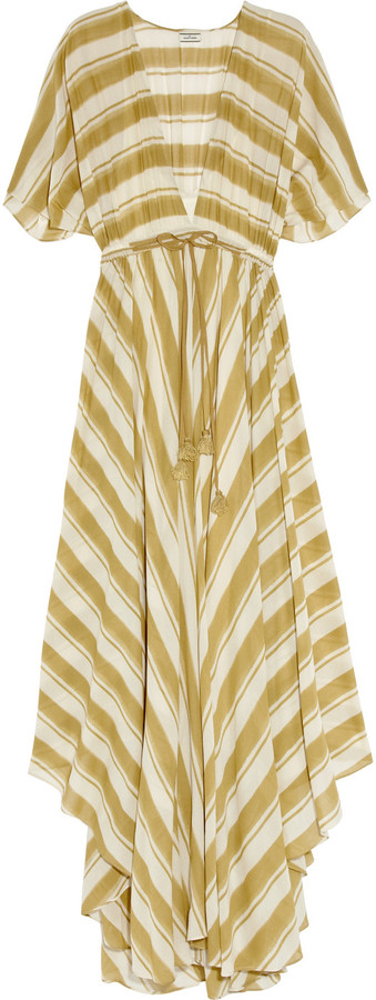 By Malene Birger Gema striped cotton-blend maxi dress