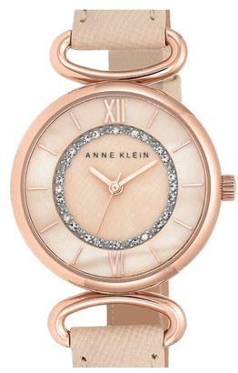 Women's Anne Klein Leather Strap Watch, 32Mm $65 thestylecure.com