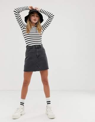 Monki Denim Mini Skirt