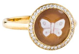 Ippolita 18K Diamond Butterfly Cameo Ring
