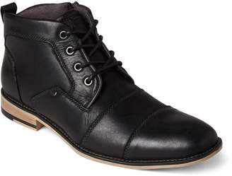 Steve Madden Black Johnnie Leather Ankle Boots
