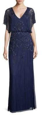 Aidan Mattox Embellished Blouson Gown