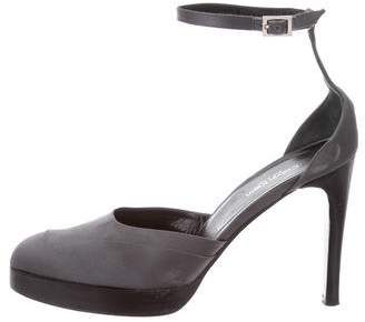Calvin Klein Satin Round-Toe Pumps