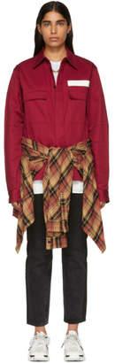 Ambush Red Nobo Waist Tie Shirt