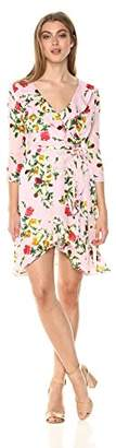 Milly Women's Rose Print on GGT Audrey Dress,2