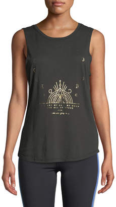 Spiritual Gangster Moon Graphic Muscle Tank
