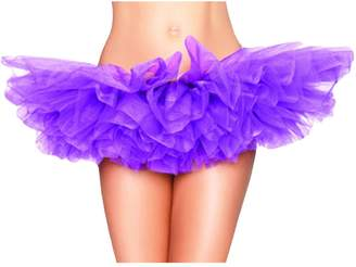 newrong Women's LED Light Layered Organza Ballet Tutu Skirt Large