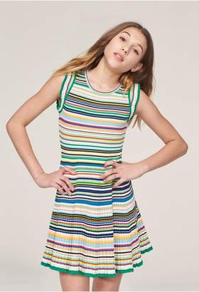 Milly Minis Micro Stripe Flare Dress