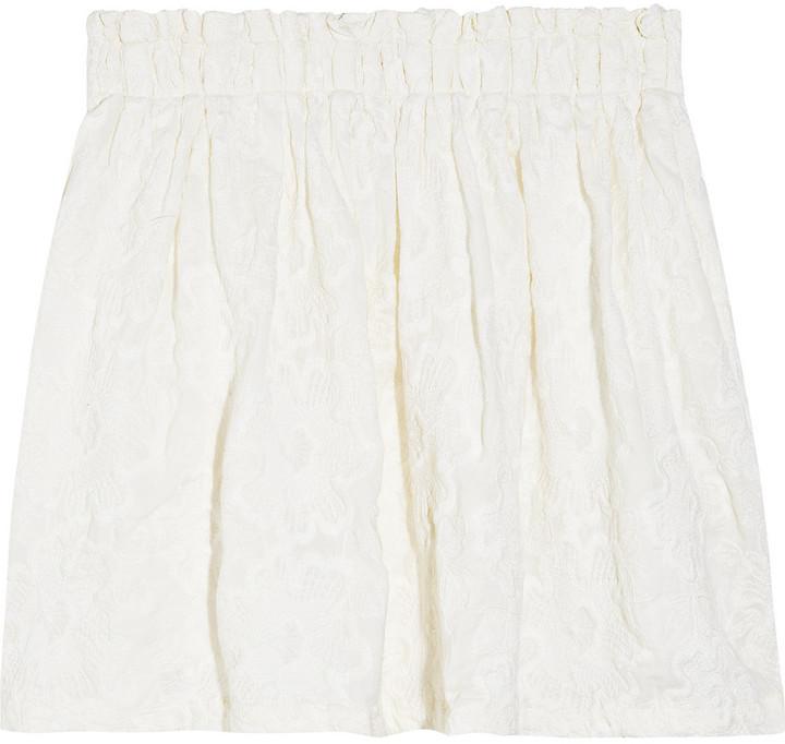 Aubin & Wills Crofton embroidered cotton skirt