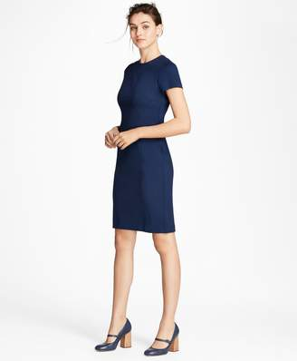 Brooks Brothers Petite Ponte Knit Sheath Dress