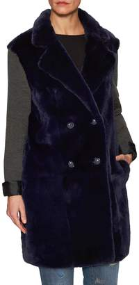 Tasha Tarno Women's Sheared Fur Coat with Knit Sleeves