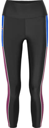 P.E Nation Without Limits Striped Stretch Leggings - Black