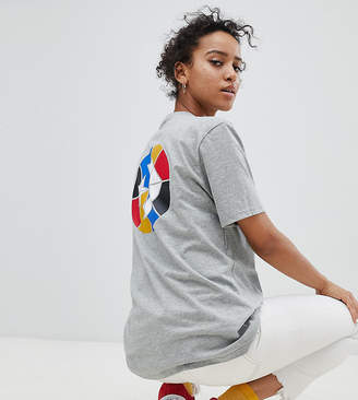 Converse Cons Skate Logo Back T Shirt In Gray