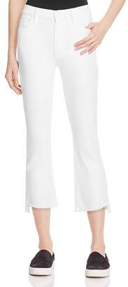 MOTHER Insider Crop Step Fray Jeans in Glass Slipper $198 thestylecure.com