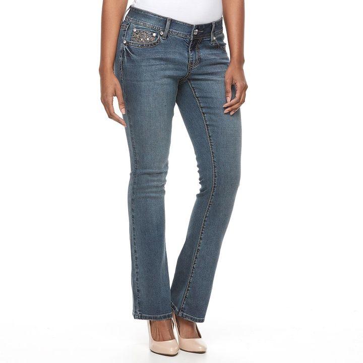 Apt. 9Women's Apt. 9® Embellished Bootcut Jeans
