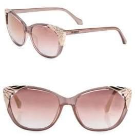 Roberto Cavalli 56MM Metal-Cap Mirrored Cat Eye Sunglasses
