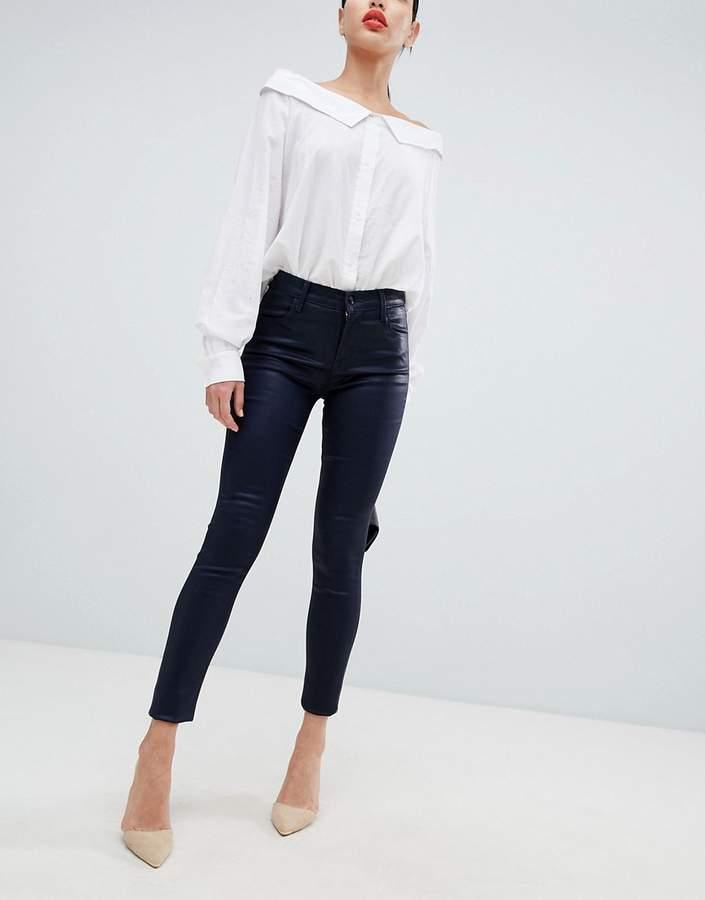 Maria high rise coated skinny jeans