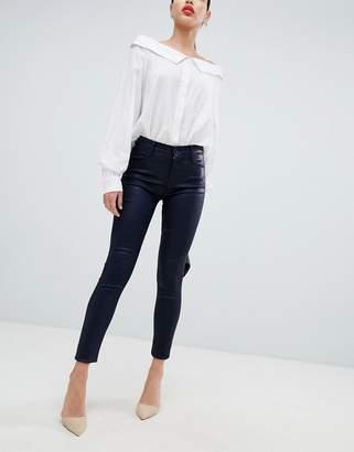 J Brand Maria high rise coated skinny jeans