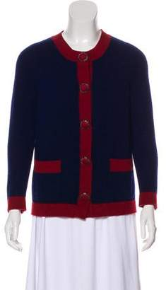 Chanel Button-Up Cashmere Cardigan