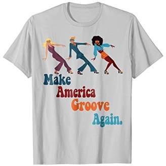 MAGA Make America Groove Again 1970s Disco Dancers T Shirt