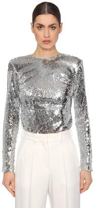 Racil Long Sleeve Sequined Top