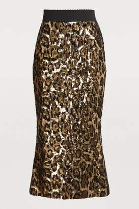 Dolce & Gabbana Sequined midi skirt