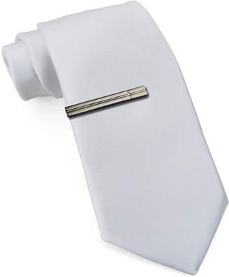 Jf J.Ferrar JF Slim Tie with Tie Bar