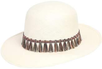 Tondo Woven Waxed Paper Hat W/ Tassels